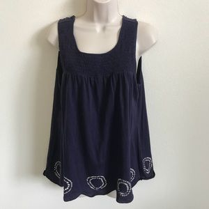 Large NWT Purple Babydoll Bobo Top Anthropologie